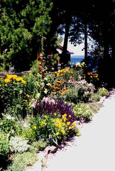 Long Garden with Georgian Bay beyond